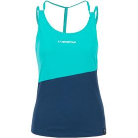 La Sportiva Think camicia a maniche corte Donna blu/turchese